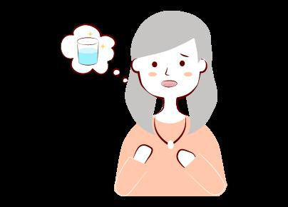 更年期に喉が渇く?!</br>症状と原因、対処方法